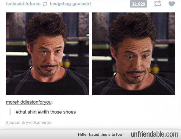 Sassy Stark.....Sassy Sassetti........................ Tony Stark know his fashion as do I