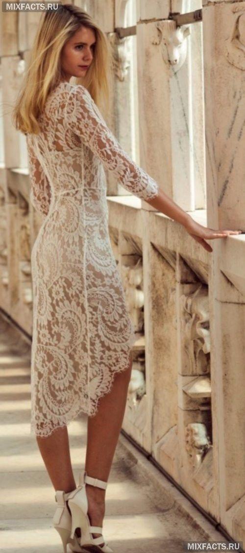 Фото в кружевных платьях