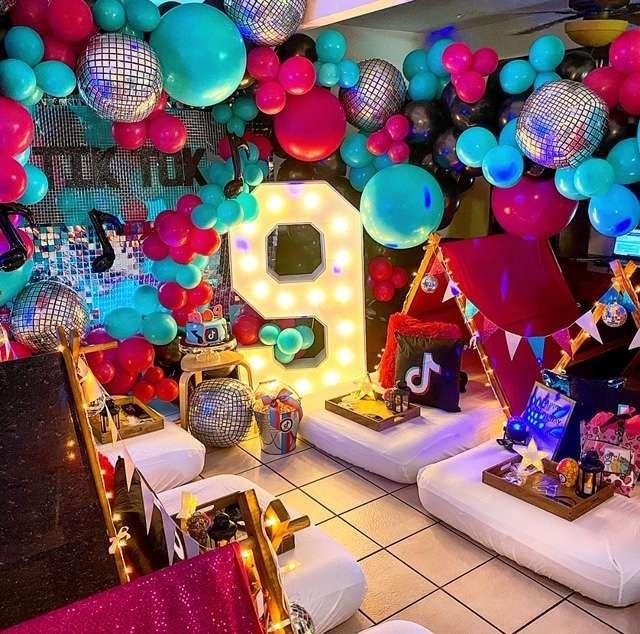 Tiktok Birthday Party Ideas Photo 1 Of 10 Birthday Surprise Party Circus Birthday Party Decorations Slumber Party Birthday