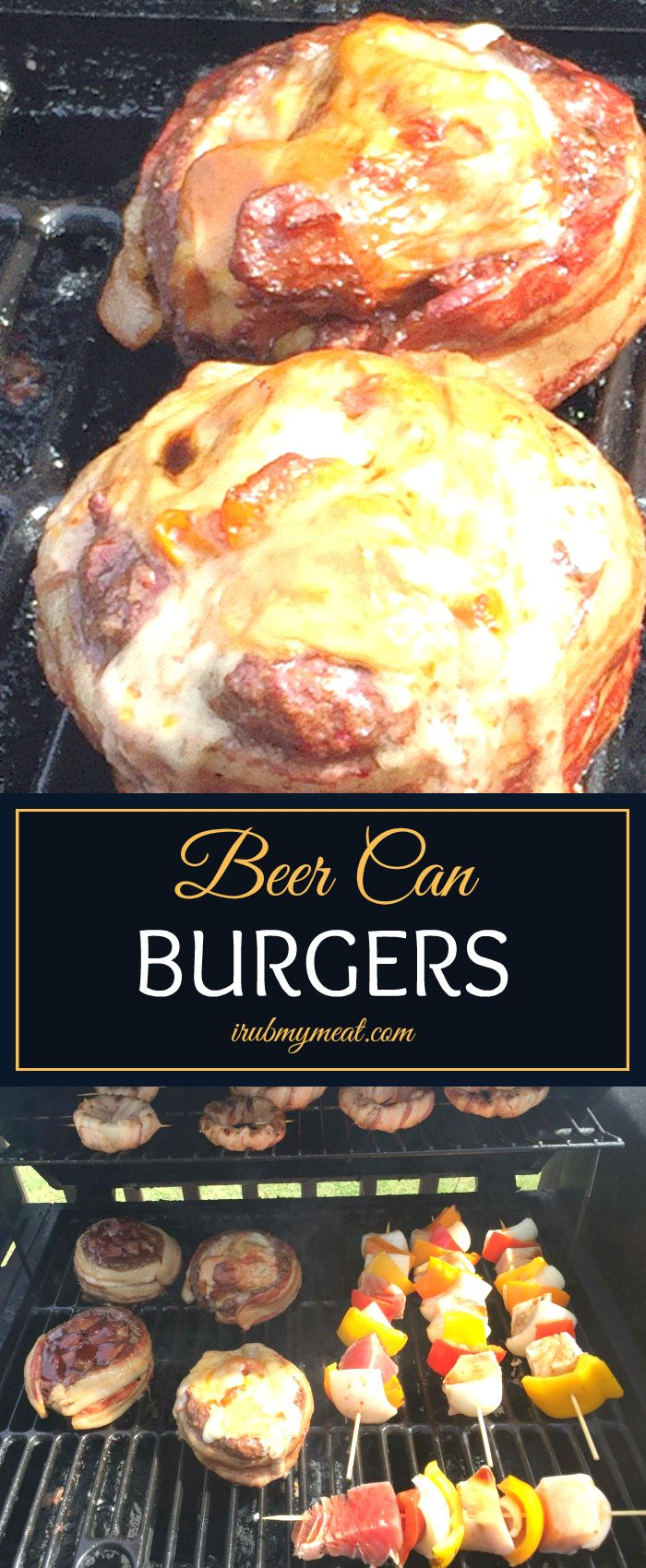 Burgers wrapped in bacon, stuffed with other good stuff.  What's better than that??  Smoked, bacon wrapped burgers full of awesomeness!  irubmymeat.com