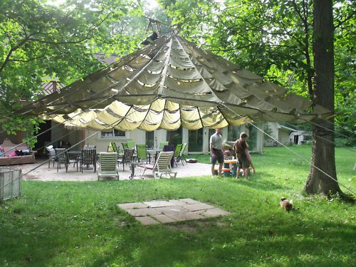 Details About Us Parachute Party Tent Garden Canopy Sun