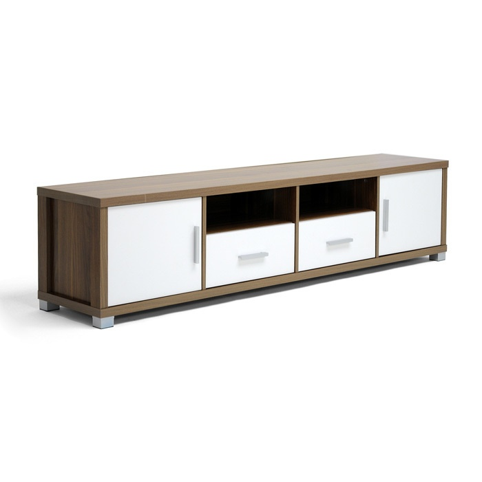 carmen modern tv cabinet with white doors