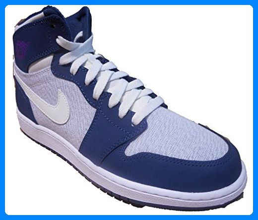 Nike Damen Air Jordan 1 Retro High GG Basketballschuhe, Blanco (Blanco (Sail / Hypr Vlt-Sqdrn Bl-White)), 42 EU - Sneakers für frauen (*Partner-Link)