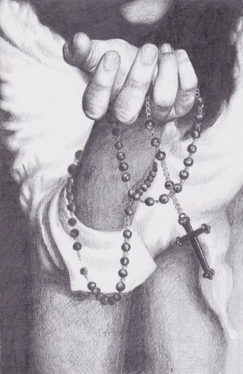 "loveforalamb: One of my drawings for the summer ""Give me an army saying the Rosary and I will conquer the world.""Pope Blessed Pius IX"