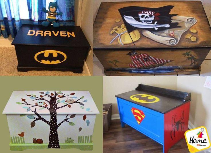 #HazloTúMismo Sorprende a tu hijo y decora su organizador de juguetes de su personaje o color favorito.