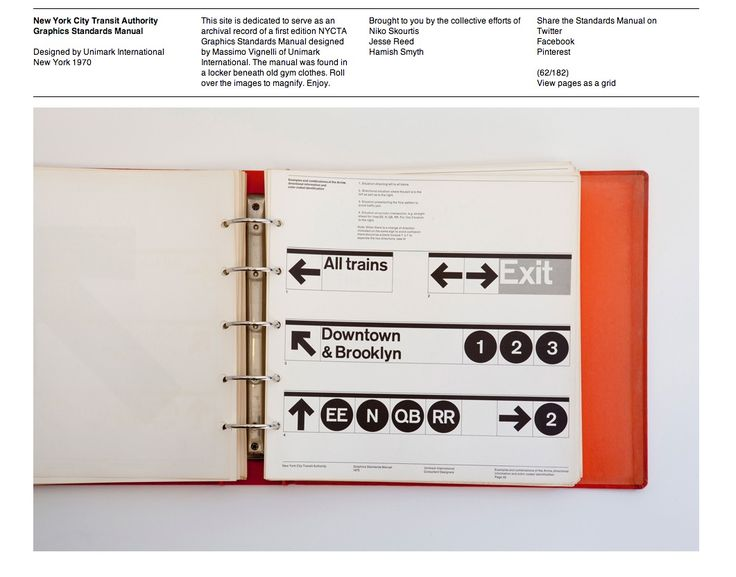 New York City Transit Authority Graphics Standards Manual by Massimo Vignelli #brand #manual