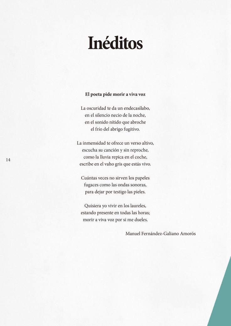 EL POETA PIDE MORIR A VIVA VOZ  Ya está disponible la publicación de este mes de la revista Contrapunto. Tengo el placer de participar en esta edición número 20 en la sección de Inéditos (página 14).  Que lo disfrutéis.  Disponible el número 20: http://www3.uah.es/contrapunto/descargas/numero-veinte.pdf También podéis leer el número en ISSUU: http://issuu.com/revistaco…/…/numero-veinte_f05d47447cc729/1