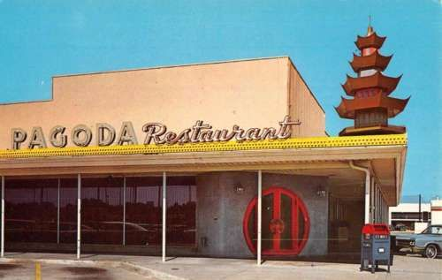 Tulsa-Oklahoma-Pagoda-Restaurant-Street-View-Vintage-Postcard-K52552 == USED TO EAT THERE, ALL THE TIME, WITH MY PARENTS, LOVED IT !!! ==