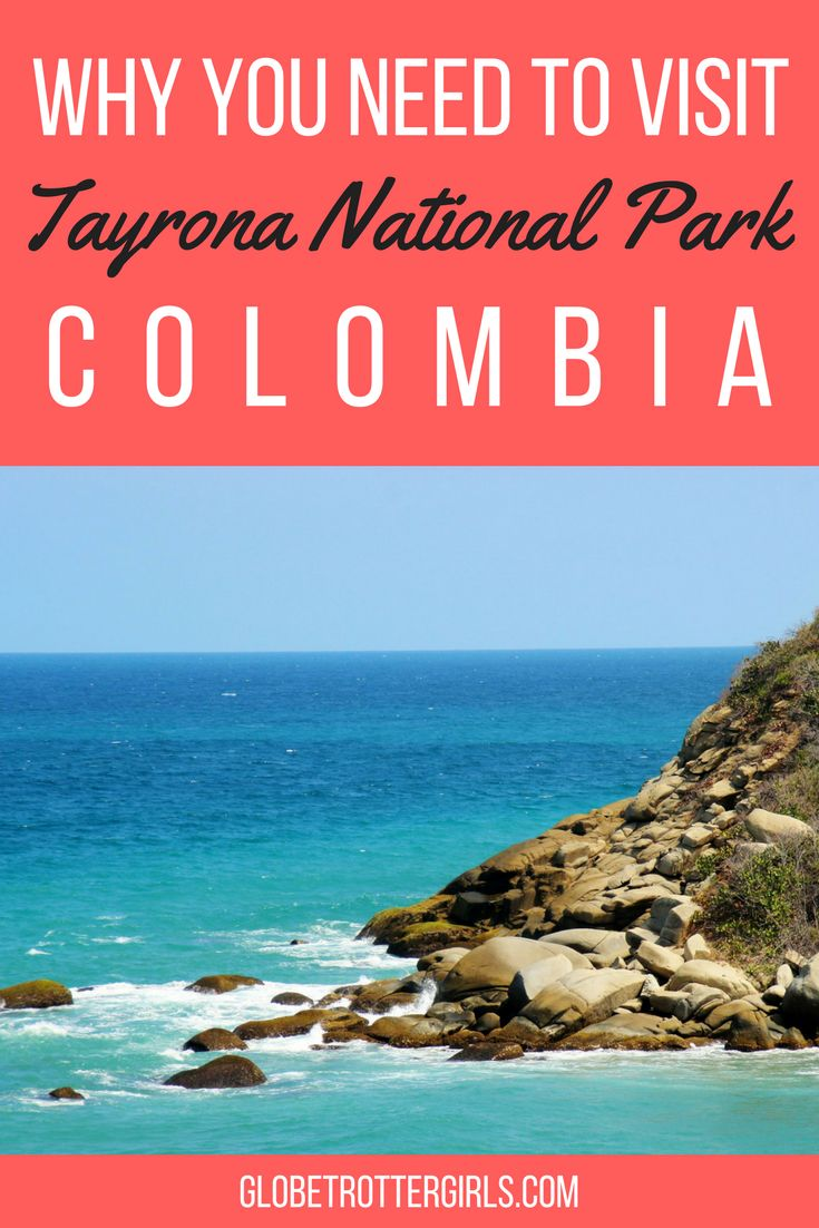 Tayrona National Park is one of Colombia's most popular national parks and stretches along the Caribbean coast and into the foothills of the Santa Marta mountains. It is a place of thick jungle and pristine beaches just waiting to be explored. Click through to find out more about Tayrona National Park in Colombia. | Globetrotter Girls #colombia #tayrona #beaches #hiking
