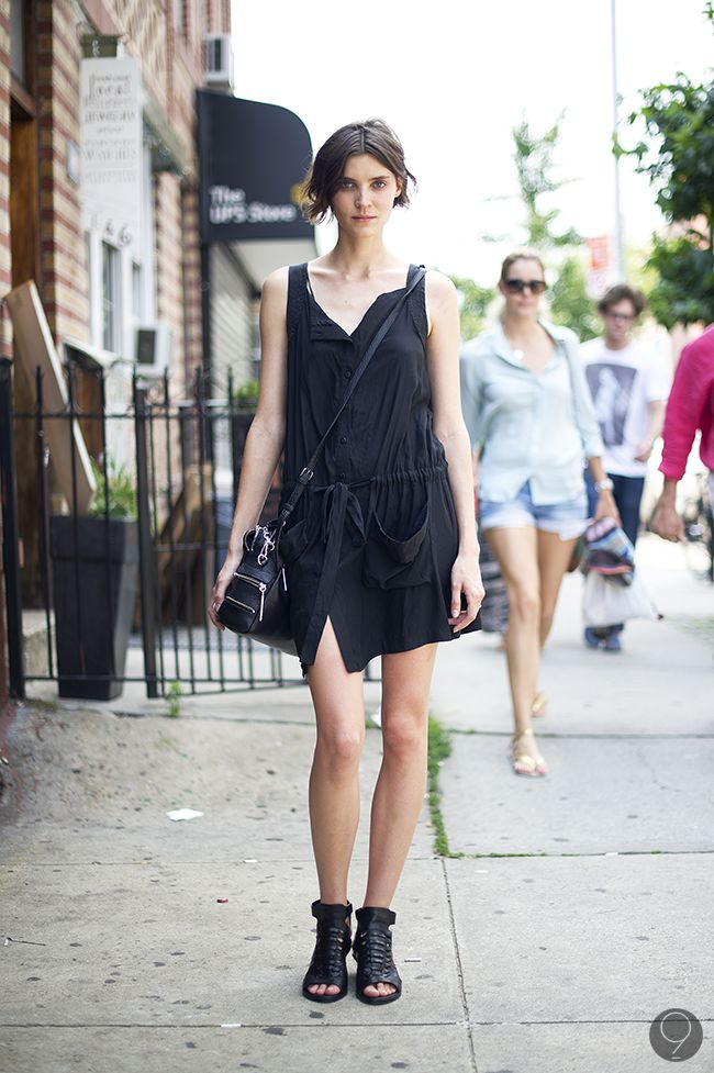 : Summer Fashion, Fashion Clothing, Summer Looks, Summer Day, Black Summer, Outfit, Totally Black, Street Style Summer, Woman Style