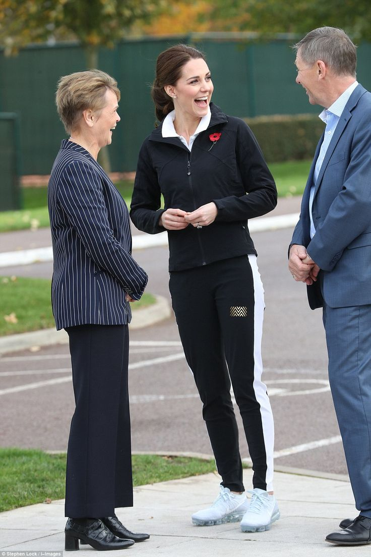 The Duchess looked in great spirits as she arrived at the National Tennis Centre with the worst of her battle with severe morning sickness clearly behind her