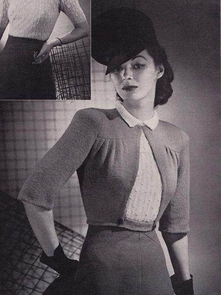 Boulevarde Jacket #vintage #knitting