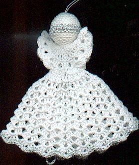crochet angel christmas ornaments diy