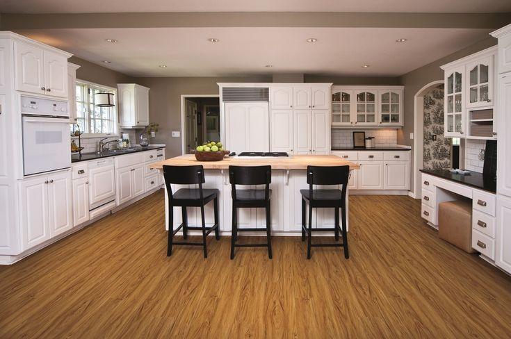Coretec one adelaide walnut 100 waterproof floor for White kitchen vinyl floor