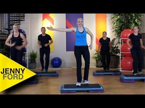 STEP AEROBICS - Step by Step 3 - Intermediate - JENNY FORD - YouTube