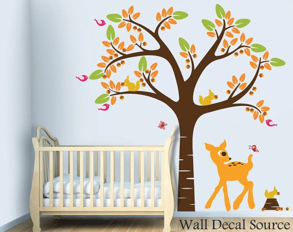 34 best images about nursery wall decals on pinterest for Baby room decoration wallpaper