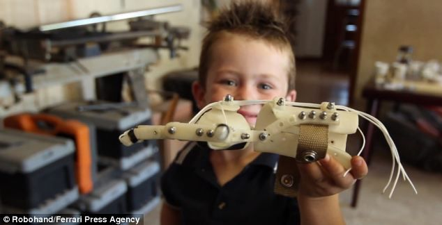 Carpenter who lost four fingers in saw accident invents 3D printed hand that costs just £65 and has transformed the lives of more than 100 children      Richard Van As worked with designer Ivan Owen to create the Robohand     They are now making hands for people unable to afford normal prostheses     They hope people will eventually be able to download the hand from a website so it can be printed anywhere in the world