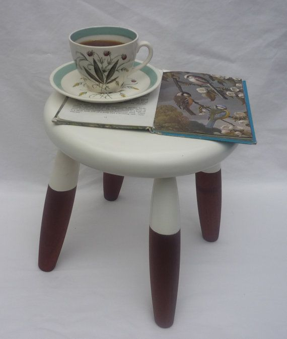 Hardwood round stool or table - with dipped effect via Etsy
