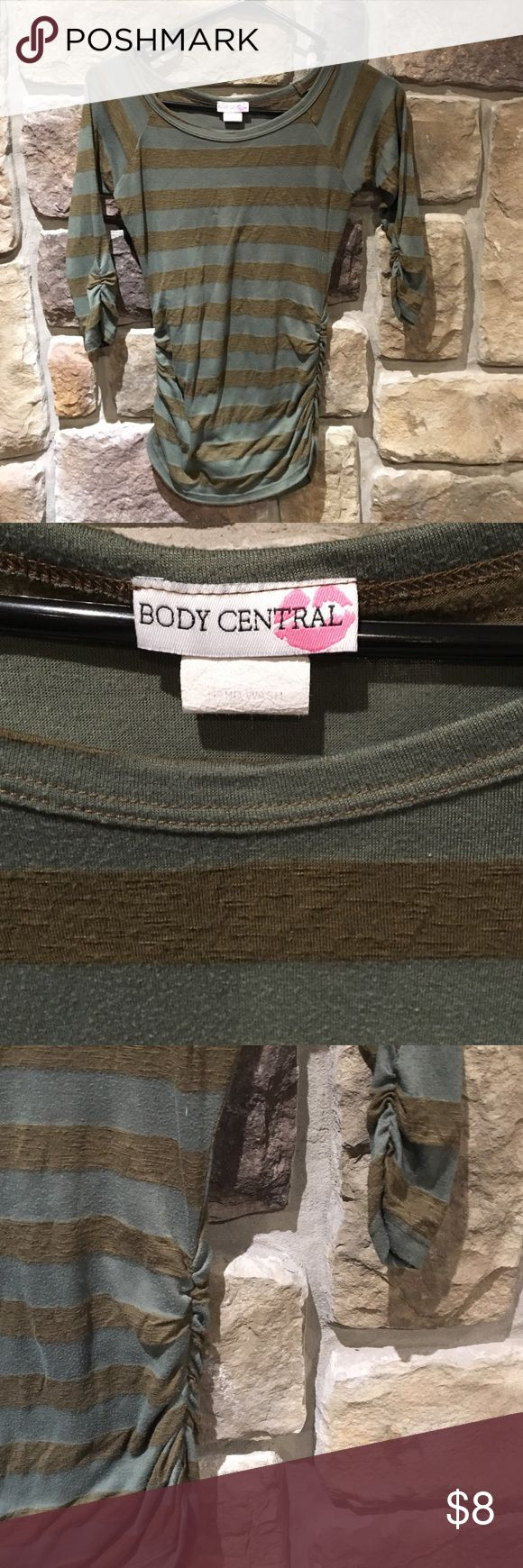 Body Central green & brown shirt size medium Body Central green & brown shirt size medium. Body Central Tops Tees - Long Sleeve