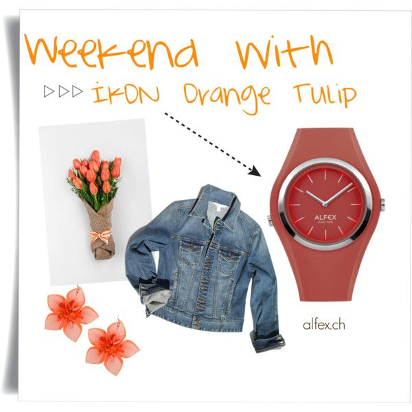 Weekend with IKON orange tulip by alfex-swissmade on Polyvore featuring moda, Boston Proper and Dsquared2