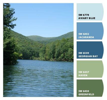 A Southern Appalachia River Color Palette Super Cool