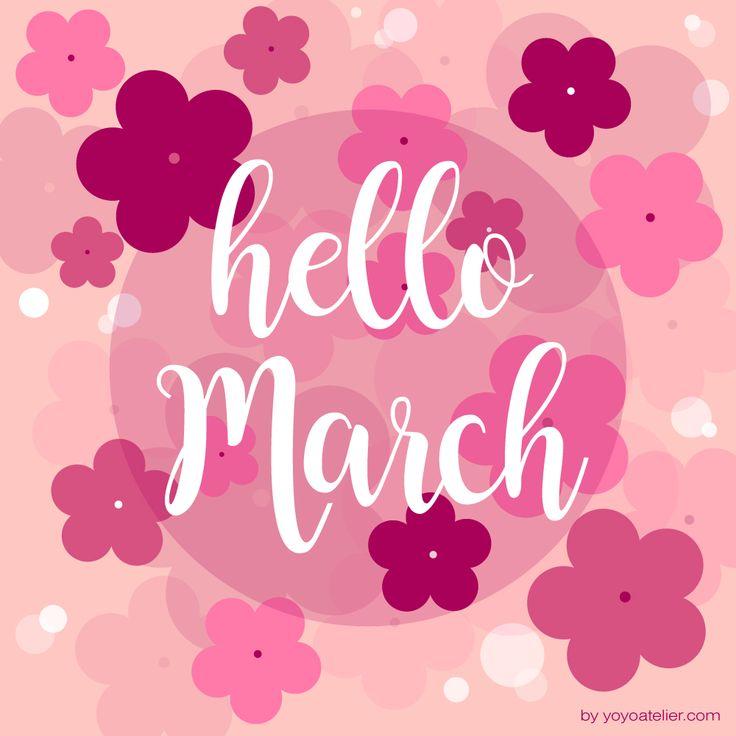 YoYo atelier | HELLO MARCH Una cascata di fiori… si avvicina la primavera... Benvenuto marzo! https://yoyoatelier.com/2017/03/01/benvenuto-marzo/ #marzo #fiori #rosa #hellomarch #welcomemarch #pink #flowers #springiscoming #illustration