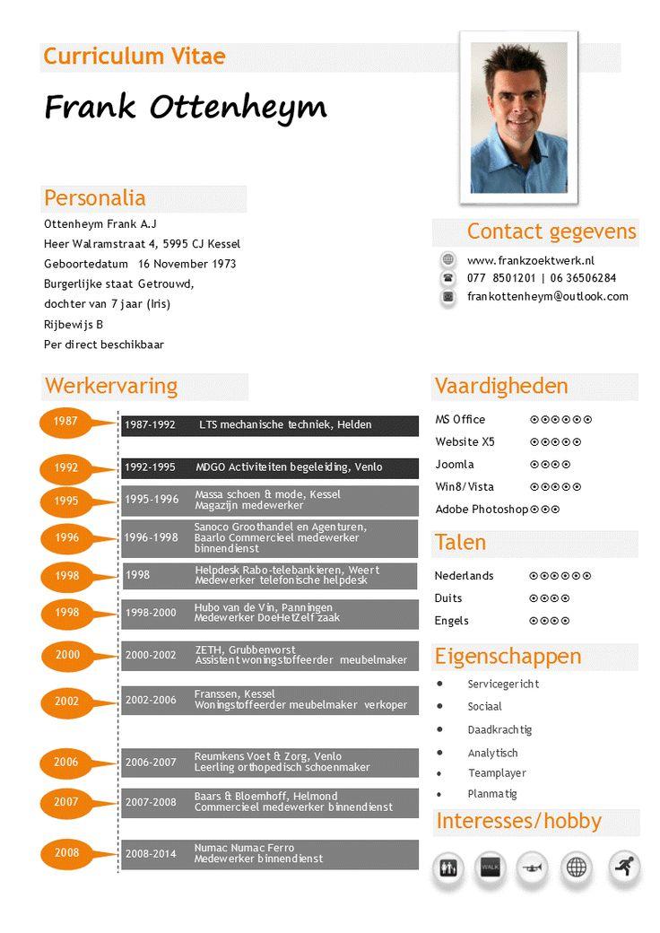 mijn cv  een overzicht van werkervaring en vaardigheden
