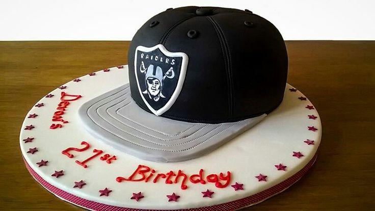okland raiders hat cake