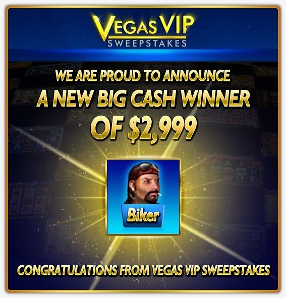 Big Cash Winner at Vegas VIP Sweepstakes, where winning is made easy! #slots #online #casino #games #free #virtual #lobby #poker #roulette #cash #winner vegasviponline luannagfader