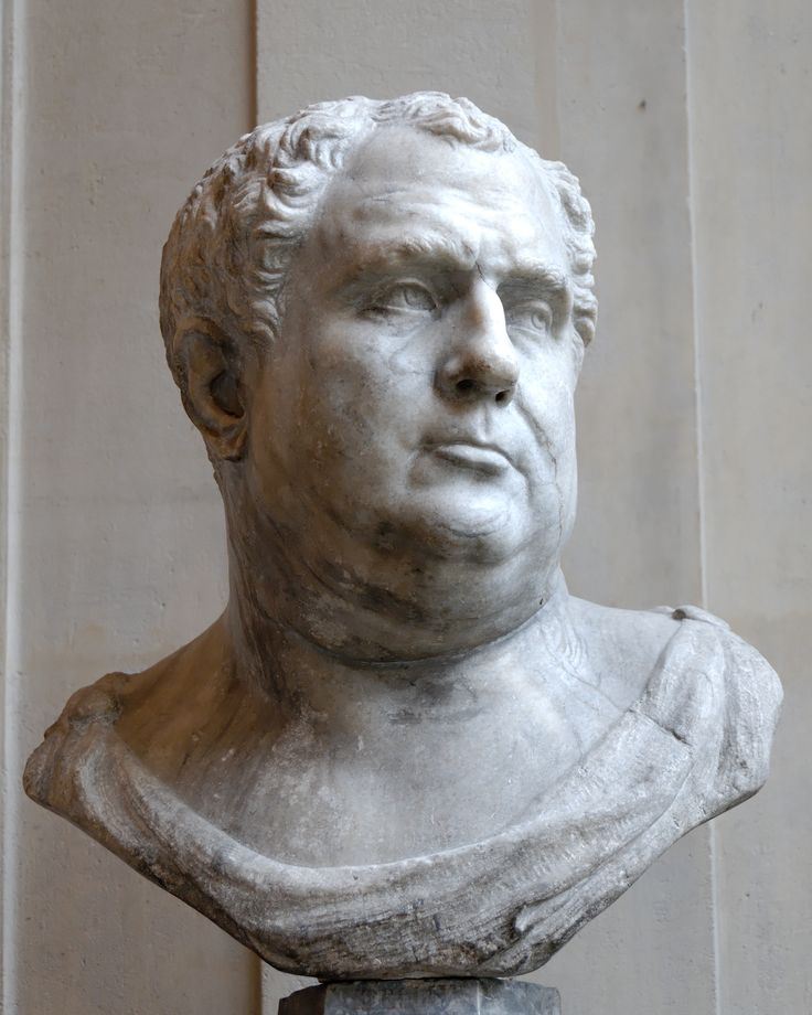 Vitellius (Latin: Aulus Vitellius Germanicus Augustus, 24 September 15 – 22 December 69), was Roman Emperor for eight months, from 16 April to 22 December 69. Vitellius was proclaimed emperor following the quick succession of the previous emperors Galba and Otho, in a year of civil war known as the Year of the Four Emperors.