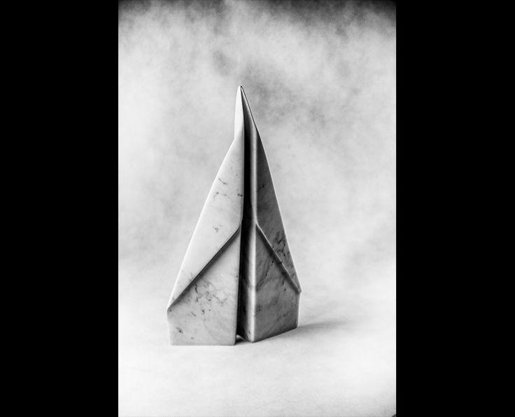 Michal Jackowski, PLANE, 43 x 25 x 5 cm, Carrara white marble, 2015  #sculptures #humans #antique #pinart #creative #passion #love #art #classic #plane #white
