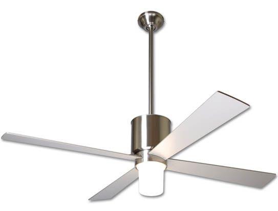 lapa ceiling fan bright nickel