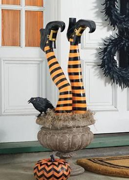 create a whimsically fun and frightening scene in your outdoor space with the set of two