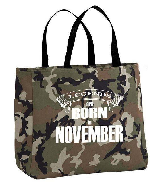 November themed tote bag  November birth month gift