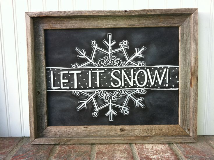 Let it Snow Snowflake Chalk Art Instant by MainStreetChalk on Etsy, $5.00