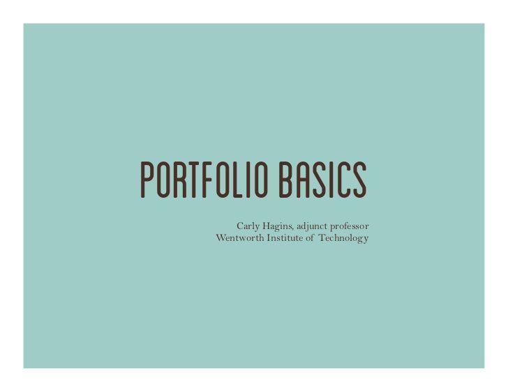 Industrial Design Portfolio Basics