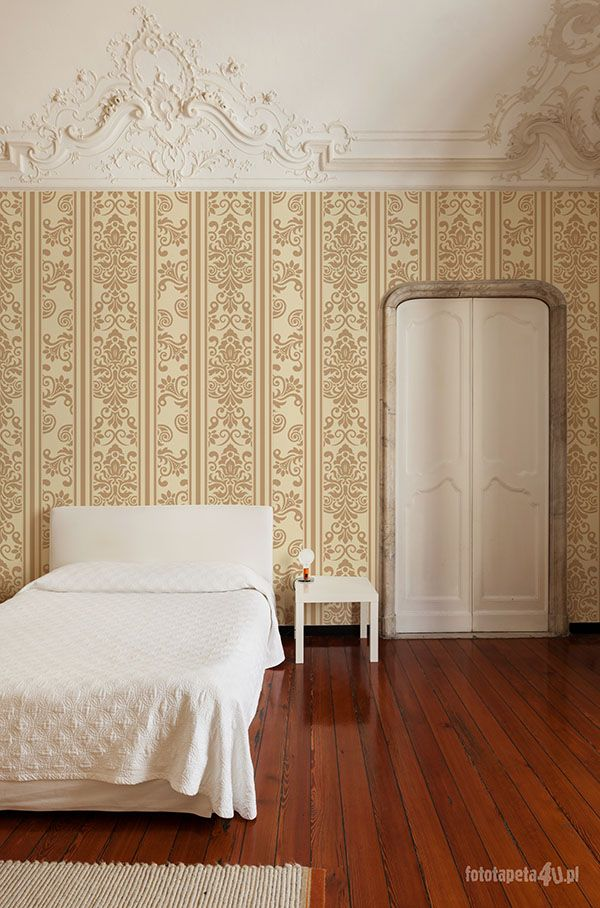 Beautiful interior of hotel, view classic bedroom.
