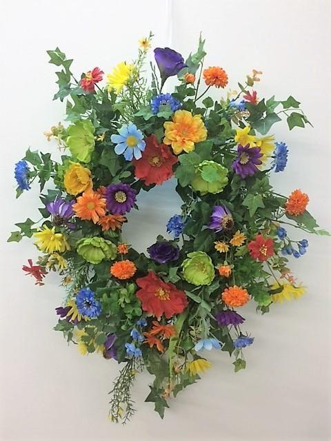 Orange Tulip Wreath