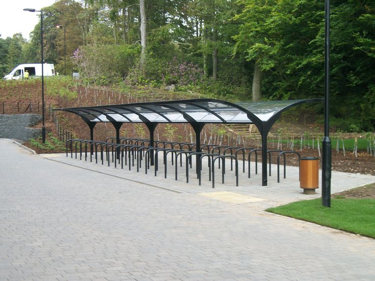 The modern double-sided variation incorporates a single arm that expands into two upward facing branches. Ideal for areas with limited space as well as mass cycle parking coverage requirements, the FalcoGamma is a complete solid and design-led cycle parking shelter. http://www.falco.co.uk/products/shelters-canopies-cabins/cycle-shelters/falcogamma-double-sided-cycle-shelter/