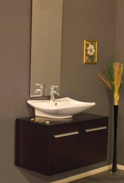Modern vanity for small powder room house pinterest for Small vanity for powder room