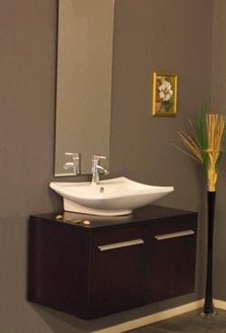 modern vanity for small powder room house pinterest. Black Bedroom Furniture Sets. Home Design Ideas