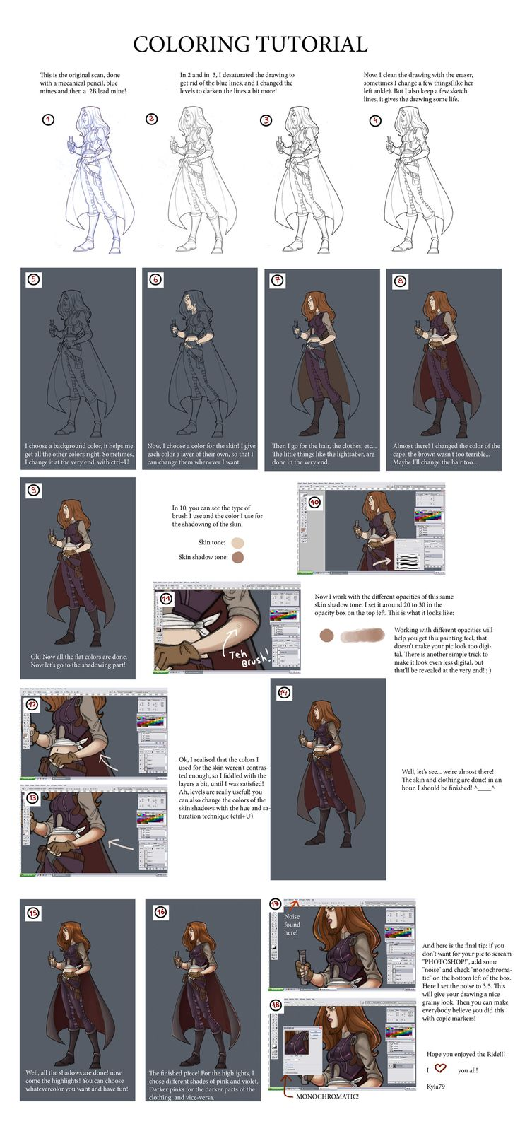 Digital Character Design Tutorial : Best images about coloring manga non video tutorials on