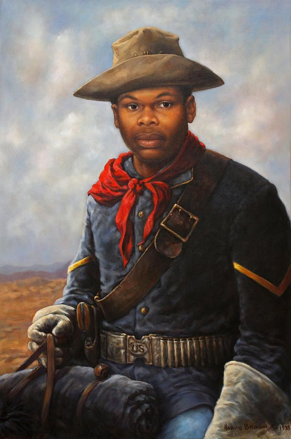 buffalo soldiers paintings illustrations | Buffalo Soldier Painting - American…