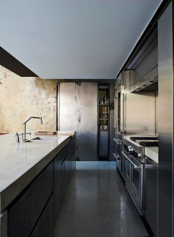 Amazing kitchen; terrific materials and palette.