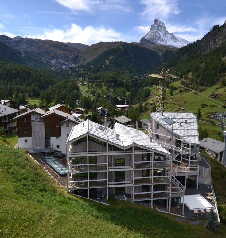 Hotel Matterhorn Focus | Design Hotel | Switzerland | http://lifestylehotels.net/en/matterhorn-focus | Exterior View | Alps | Matterhorn