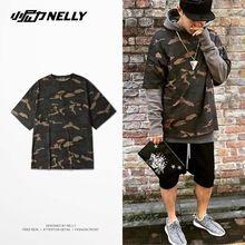 2016 T-shirt hombres moda camisetas hombres ropa camo kanye west camuflaje urban yeezy temporada 1 yeezus media manga shiping libre(China (Mainland))