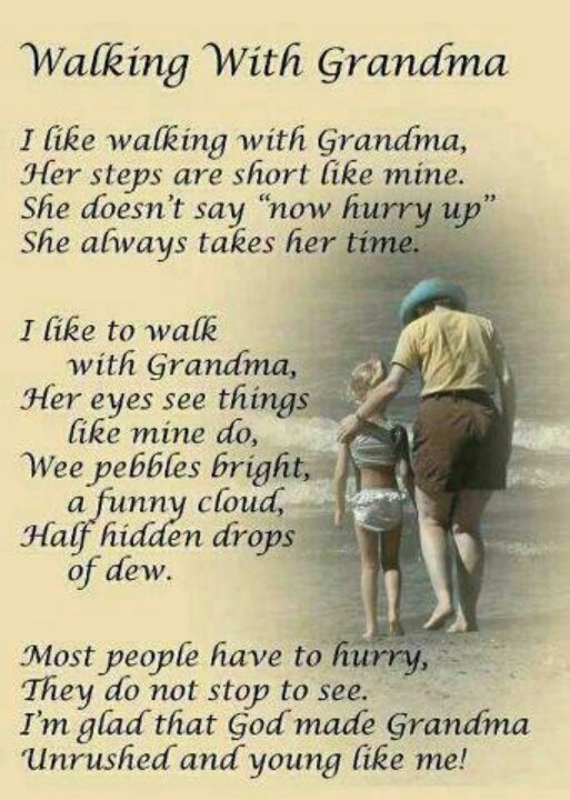 Walking With Grandma ~ I love my grandchildren. They are a joy!