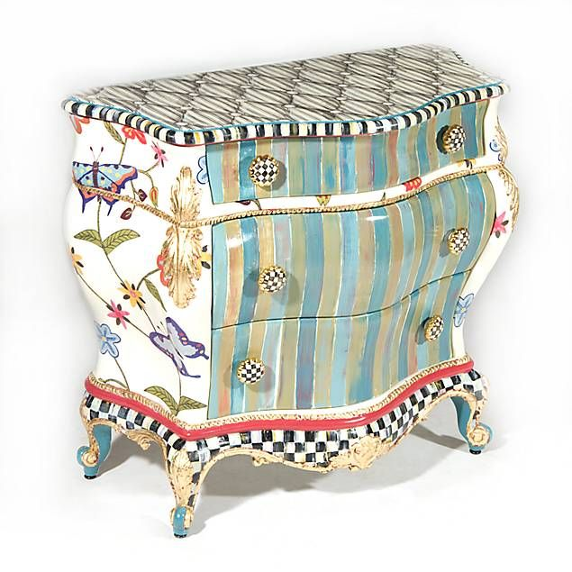 MacKenzie-Childs Butterfly Large Chest- 5.2K Wait until you see the one I painted.