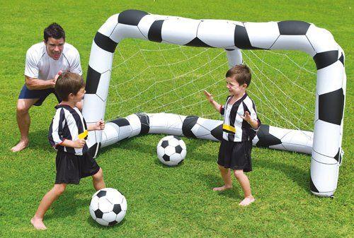 Opblaasbaar Voetbaldoel + 2 opblaasbare voetballen (Bestway)