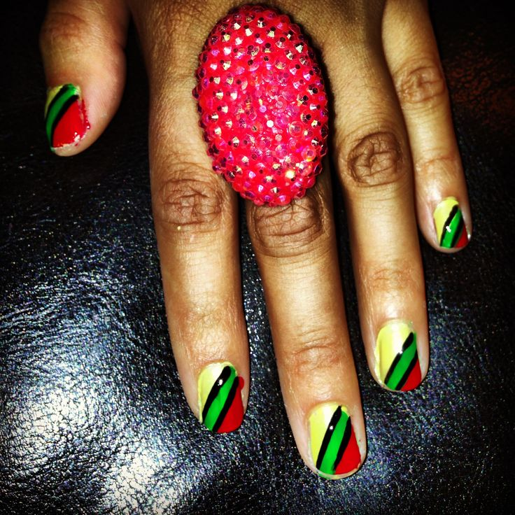 Jamaican Nail Art Design The Best Inspiration For Design And Color